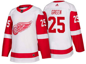 Men's Detroit Red Wings #25 Mike Green White 2017-2018 Stitched Adidas Hockey NHL Jersey