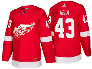 Men's Detroit Red Wings #43 Darren Helm Red Home 2017-2018 Stitched Adidas Hockey NHL Jersey
