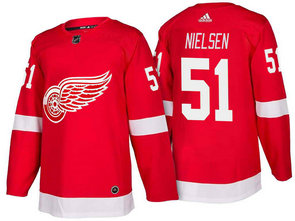 Men's Detroit Red Wings #51 Frans Nielsen Red Home 2017-2018 Stitched Adidas Hockey NHL Jersey