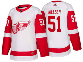Men's Detroit Red Wings #51 Frans Nielsen White 2017-2018 Stitched Adidas Hockey NHL Jersey