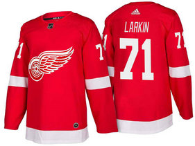 Men's Detroit Red Wings #71 Dylan Larkin Red Home 2017-2018 Stitched Adidas Hockey NHL Jersey