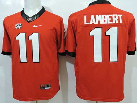 Men's Georgia Bulldogs #11 Greyson Lambert Red 2015 College Football Nike Limited Jersey