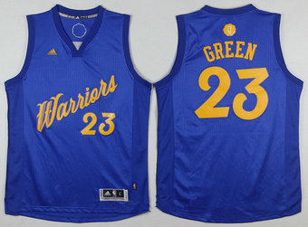 Men's Golden State Warriors #23 Draymond Green Adidas Royal Blue 2016 Christmas Day Stitched NBA Swingman Jersey