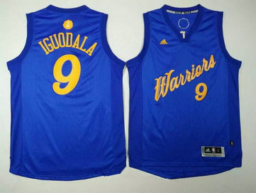 Men's Golden State Warriors #9 Andre Iguodala Blue Stitched NBA Adidas Revolution 30 Swingman Jersey
