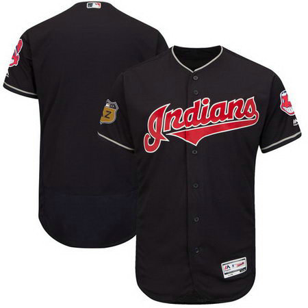 Men's Indians Blank Navy 2017 Spring Training Flexbase Jersey