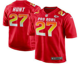 Men's Kansas City Chiefs #27 Kareem Hunt Stitched Red 2018 Pro Bowl NFL Nike Game Jersey