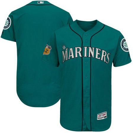 Men's Mariners Blank Green 2017 Spring Training Flexbase Jersey