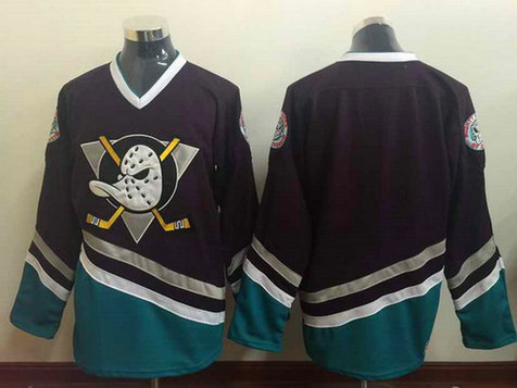 Men's Mighty Ducks of Anaheim Blank 1995-96 Purple CCM Vintage Throwback Jersey