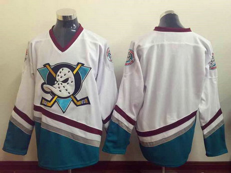 Men's Mighty Ducks of Anaheim Blank 1995-96 White CCM Vintage Throwback Jersey