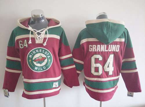 Men's Minnesota Wild #64 Mikael Granlund Old Time Hockey Red Hoodie