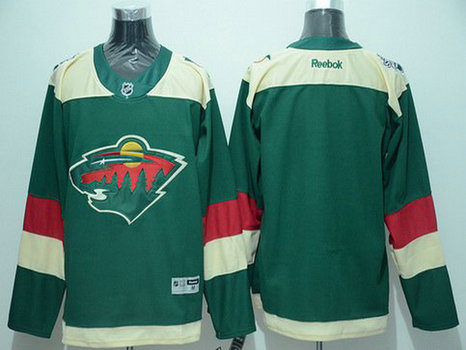 Men's Minnesota Wild Blank Reebok Green 2016 Stadium Series Team Premier Jersey