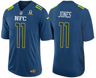 Men's NFC Atlanta Falcons #11 Julio Jones Navy Blue 2017 Pro Bowl Stitched NFL Nike Game Jersey