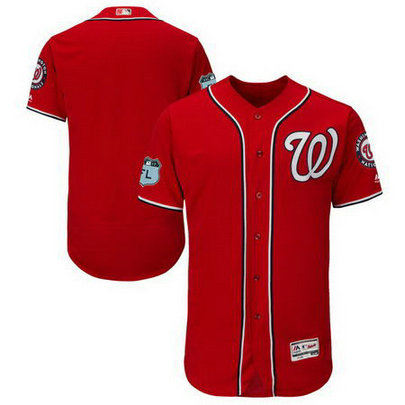 Men's Nationals Blank Red 2017 Spring Training Flexbase Jersey