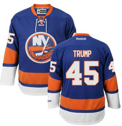 Men's New York Islanders #45th Presidential Candidate Donald Trump Blue Jersey