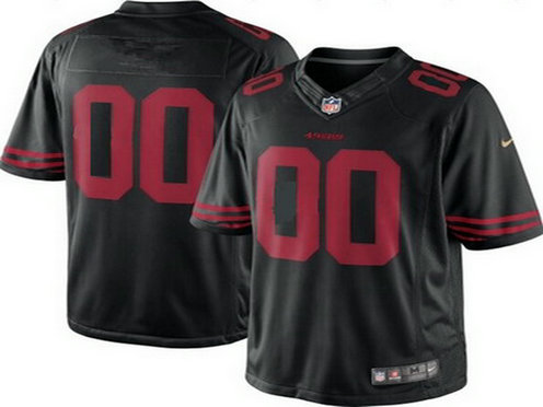 Men's Nike San Francisco 49ers Customized 2015 Black Limited Jersey
