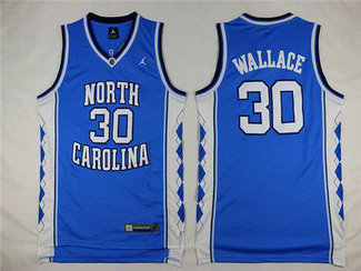 Men's North Carolina Tar Heels #30 Rasheed Wallace 2016 Light Blue Swingman College Basketball Jersey