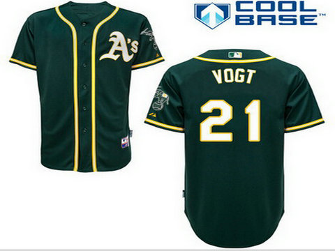 Men's Oakland Athletics #21 Stephen 2014 Dark Green Jersey