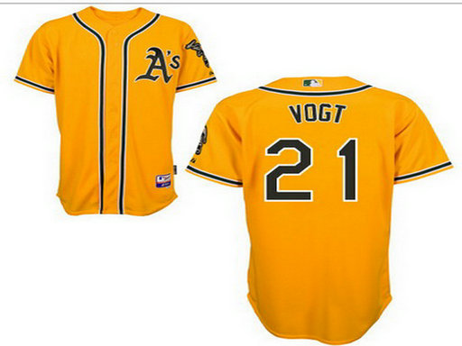 Men's Oakland Athletics #21 Stephen Yellow Jersey