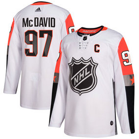 Men's Oilers 97 Connor McDavid White Adidas 2018 NHL All-Star Game Pacific Division Authentic Player Jersey