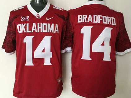 Men's Oklahoma Sooners #14 Sam Bradford Red 2016 College Football Nike Limited Jersey