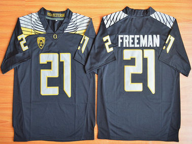 Men's Oregon Duck #21 Royce Freeman Black College Football Nike Limited Jersey