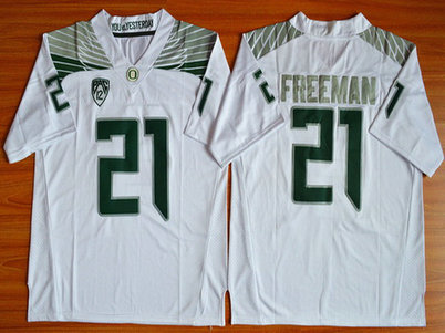 Men's Oregon Duck #21 Royce Freeman White College Football Nike Limited Jersey