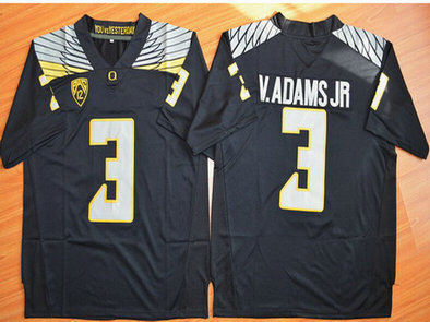 Men's Oregon Duck #3 Vernon Adams Jr Black College Football Nike Limited Jersey
