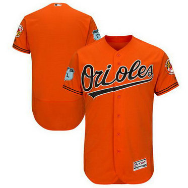 Men's Orioles Blank Orange 2017 Spring Training Flexbase Jersey