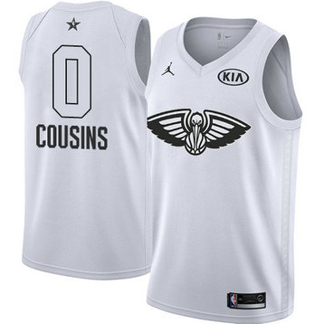 Men's Pelicans #0 DeMarcus Cousins White NBA Jordan Swingman 2018 All-Star Game Jersey