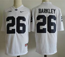Men's Penn State Nittany Lions #26 Saquon Barkley Nike White Limited Football Jersey