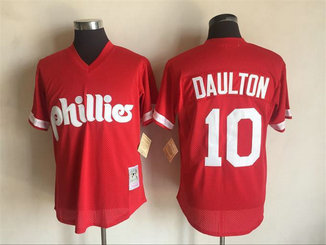 Men's Philadelphia Phillies #10 Darren Daulton Red Cooperstown Collection Cool Base Stitched MLB Jersey