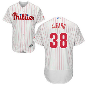Men's Philadelphia Phillies #38 Jorge Alfaro White(Red Strip) MLB Flexbase Authentic Collection Stitched Jerse