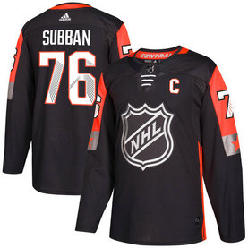 Men's Predators 76 PK Subban Black Adidas 2018 NHL All-Star Game Central Division Authentic Player Jersey