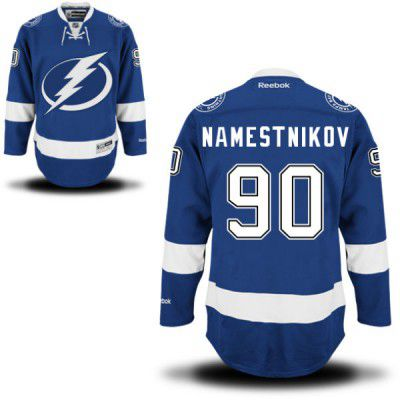 Men's Reebok Tampa Bay Lightning #90 Vladislav Namestnikov Premier Royal Blue Home NHL Jersey - Men's Size