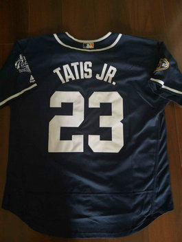 Men's San Diego Padres #23 Fernando Tatis Jr. Navy Blue Flexbase Authentic Collection Stitched Baseball Jersey