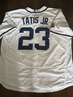 Men's San Diego Padres #23 Fernando Tatis Jr. White Flexbase Authentic Collection Stitched Baseball Jersey