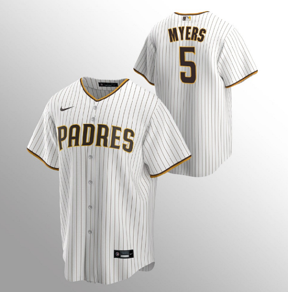 Men's San Diego Padres #5 Wil Myers Sand Brown MLB Home Jersey