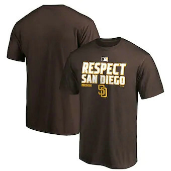 Men's San Diego Padres Fanatics Branded Brown 2020 Postseason Locker Room T-Shirt.webp