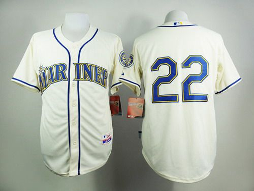 Men's Seattle Mariners #22 Robinson Cano Cream Jersey