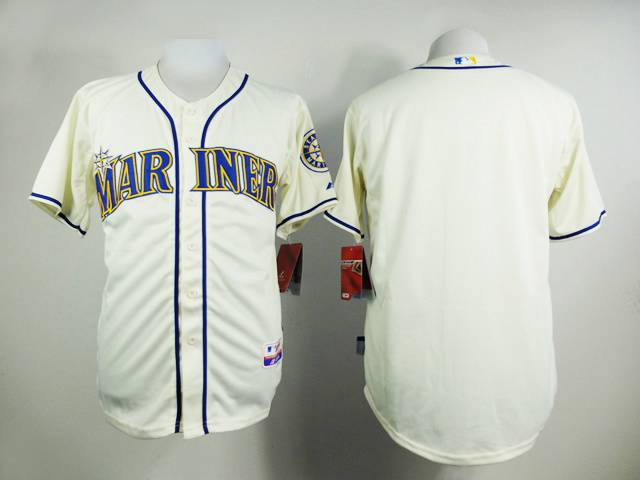 Men's Seattle Mariners Blank Cream Jersey