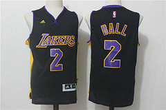 Men's Stitched 2017 Draft Los Angeles Lakers #2 Lonzo Ball Black NBA Adidas Revolution 30 Swingman Jersey