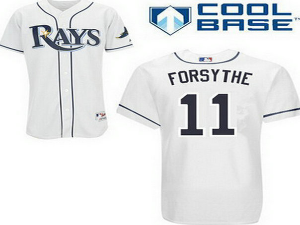 Men's Tampa Bay Rays #11 Logan Forsythe White Jersey