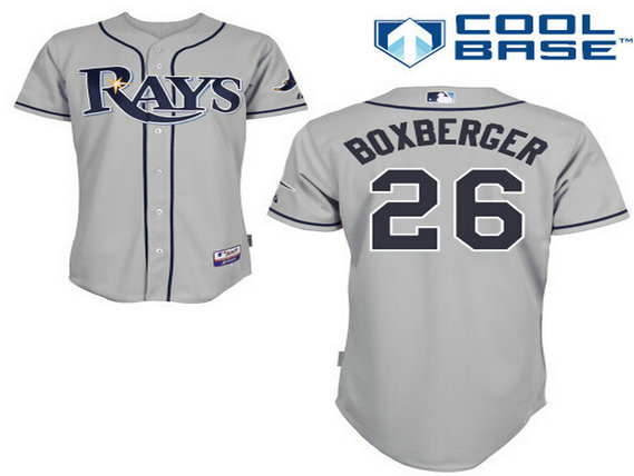 Men's Tampa Bay Rays #26 Brad Boxberger Gray Jersey