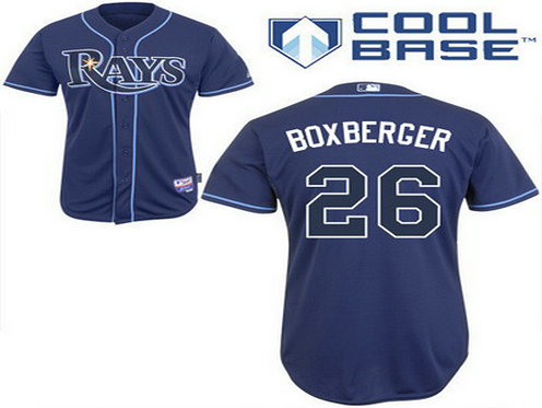 Men's Tampa Bay Rays #26 Brad Boxberger Navy Blue Jersey