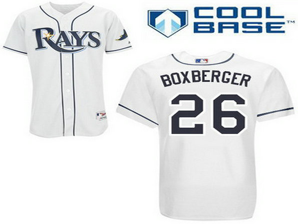 Men's Tampa Bay Rays #26 Brad Boxberger White Jersey