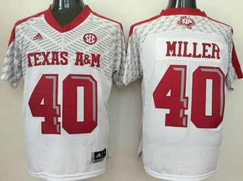 Men's Texas A&M Aggies #9 Ricky Seals-Jones White 2016 College Football Nike Jersey