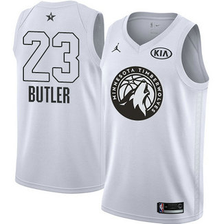 Men's Timberwolves #23 Jimmy Butler White NBA Jordan Swingman 2018 All-Star Game Jersey