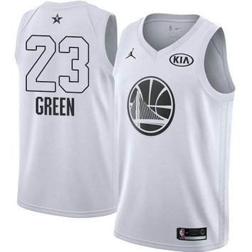 Men's Warriors #23 Draymond Green White NBA Jordan Swingman 2018 All-Star Game Jersey