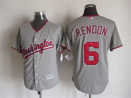 Men's Washington Nationals ##6 Anthony Rendon Away Gray 2015 MLB Cool Base Jersey