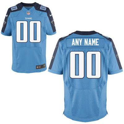 Mens Tennessee Titans Nike Light Blue Customized 2014 Elite Jersey